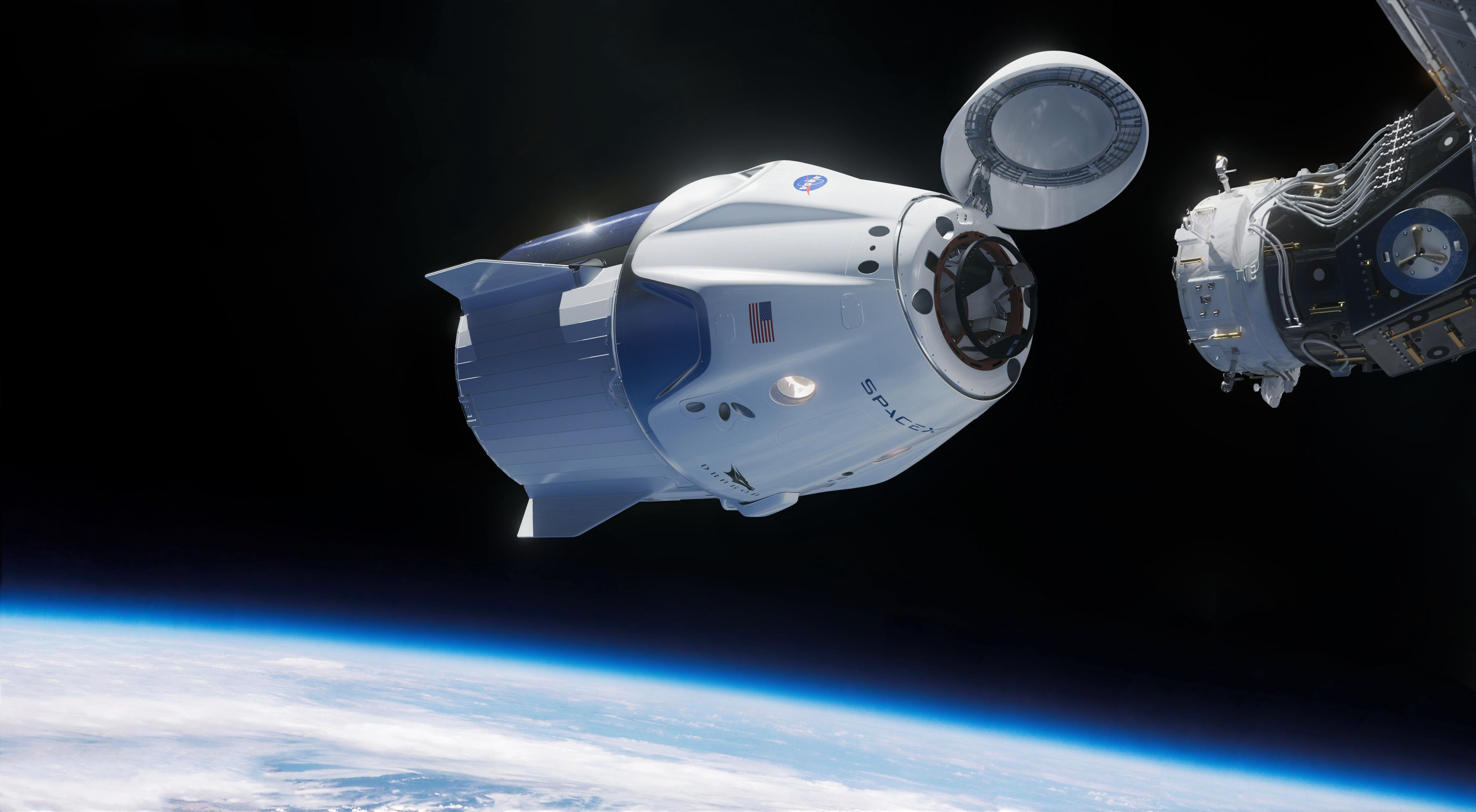 LYACrew-Dragon-approaches-the-ISS-SpaceX-edit 2