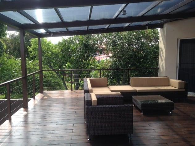 Estructuras de acero para terrazas y jardines for Terrazas 2do piso